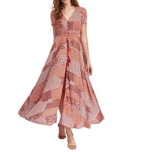Dresses & Skirts - Button Up Split Flowy Maxi Dress